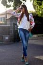 Stradivarius-jeans-romwe-jacket-zara-sunglasses-zara-heels