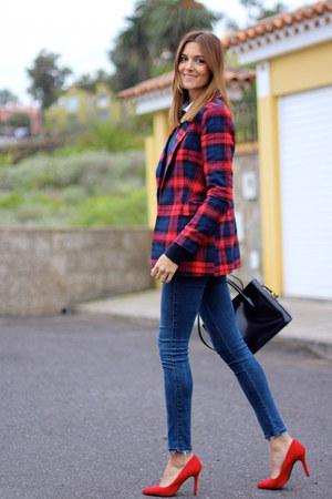 shein jacket - Zara jeans - Bimba & Lola bag - Bershka heels