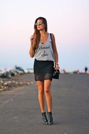 liketosurf top - PERSUNMALL bag - Mango heels - Zara skirt