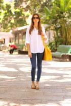 Barada bag - Zara jeans - Zara flats