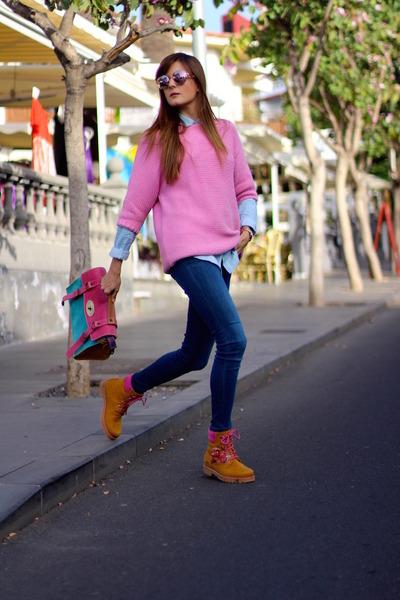 Zara jeans - Panama Jack boots - Zara sweater - imperio clandestino bag