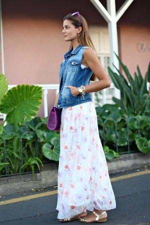 Mango vest - zeroUV sunglasses - Zara skirt - calvin klein top