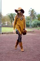 Zara boots - Sheinside sweater - Kameleonz sunglasses - Zara hair accessory