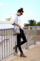 Zara boots - Mango sweater - Michael Kors bag