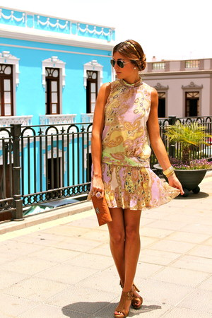 amethyst el corte ingles dress - brown BLANCO shoes - brown Mango bag
