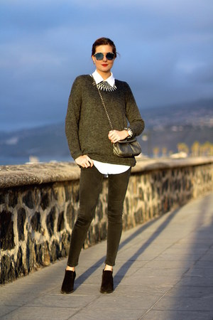 christian dior sunglasses - Zara jeans - Primark sweater
