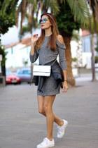 shein dress - Guess bag - Fendi sunglasses - Adidas sneakers