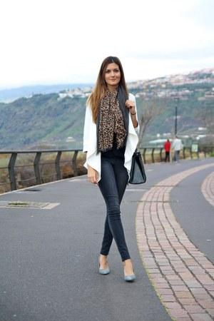 Sheinside cardigan - Pimkie scarf - Choies bag - Mango heels