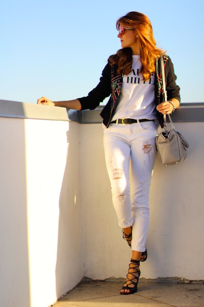 Sheinside jacket - Michael Kors bag - opticalh sunglasses - coach heels
