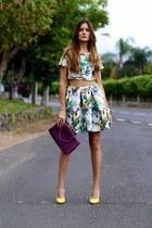 Choies top - Rebeca Sanver heels - Choies skirt - natura wallet