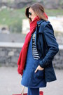 Zara-dress-stradivarius-coat-zara-scarf-guess-bag-stradivarius-loafers