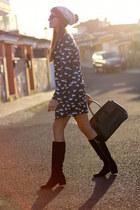Zara boots - Sheinside dress