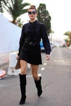 romwe shirt - Zara boots - Zara skirt
