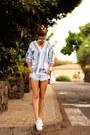 Christian-siriano-bag-zara-shorts-christian-dior-sunglasses