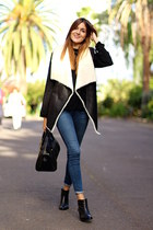 shein vest - IT shoes boots - Zara jeans - Guess bag