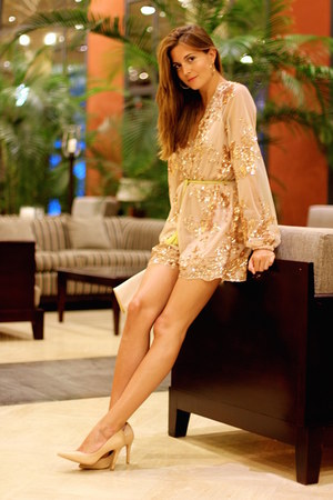 shein jumper - blanco live heels