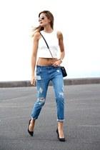 Mango jeans - imperio clandestino bag - Choies top