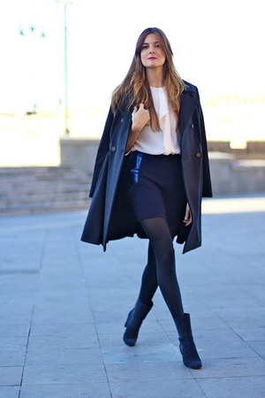 paul & joe coat - Marie Sixtine skirt - Malene Birger blouse