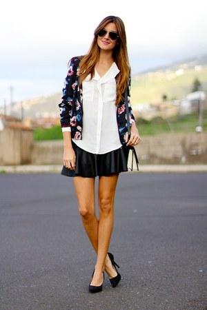 Sheinside jacket - PERSUNMALL bag - Sheinside blouse - PERSUNMALL skirt