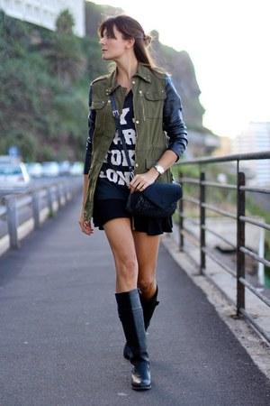 Lusstra bag - Stradivarius jacket - Zara skirt