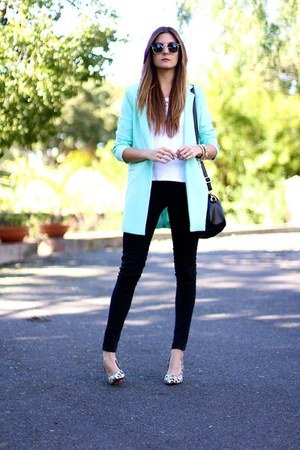 PERSUNMALL bag - Sheinside jacket - PERSUNMALL heels - Zara t-shirt