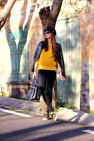 Sheinside sweater - H&M leggings - Stradivarius sneakers - Choies hair accessory