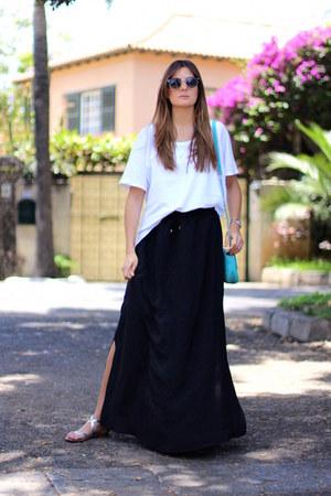 Zara skirt - imperio clandestino bag - zeroUV sunglasses - H&M necklace