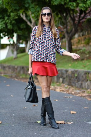 nowIStyle boots - PERSUNMALL skirt - Choies blouse