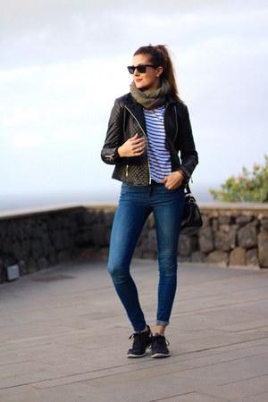 Sheinside jacket - Zara jeans - nike sneakers