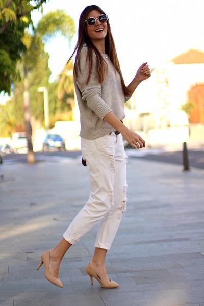Mango jeans - Mango sweater - Guess bag - Fendi sunglasses - suiteblanco heels