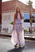 Zara skirt - H&M bag - green coast sandals - Zara blouse