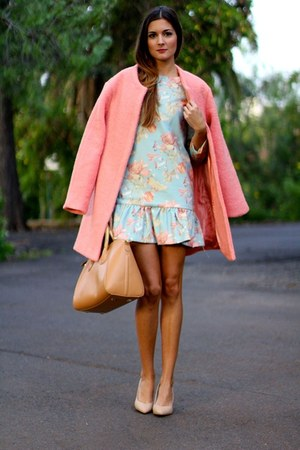 Sheinside coat - Sheinside dress