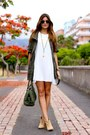 Stradivarius boots - TFNC dress - Stradivarius coat - COOLGANTE necklace