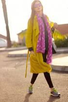Zara coat - Life sunglasses - New Balance sneakers - H&M panties