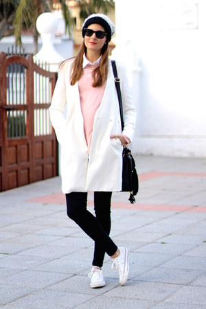 PERSUNMALL coat - Zara sweater - H&M panties - Converse sneakers