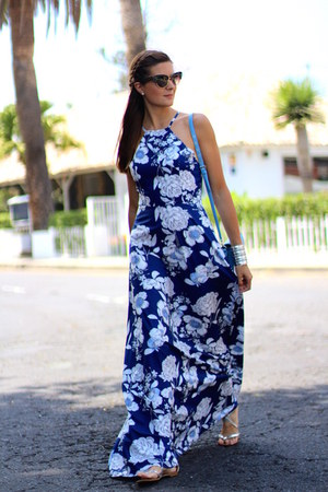 Sheinside dress - Dolce & Gabbana sunglasses - Zara sandals