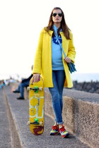 liketosurf hoodie - Sheinside coat - Ray Ban sunglasses - Zara sneakers