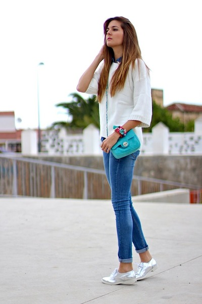 imperio clandestino bag - Primark shoes - Mango sweater - Lefties shirt
