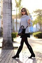 Zara boots - Sheinside sweater - Prada bag - Zara skirt