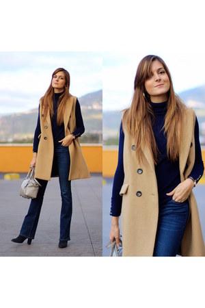 Stradivarius jeans - Zara sweater - Michael Kors bag - Stradivarius vest