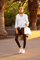 pull&bear shirt - Zara jeans - Adidas sneakers