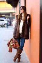 Zara vest - Zara boots - H&M jeans - Zara jacket - Michael Kors bag