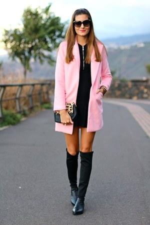 Sheinside coat - PERSUNMALL boots - Zara dress - imperio clandestino bag