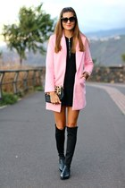 Sheinside coat - PERSUNMALL boots - Zara dress - imperio clandestino bag