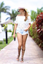 Sheinside blouse - Zara shorts - Mango sandals