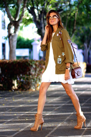 Stradivarius boots - TFNC LONDON dress - Zara shirt - emporio armani sunglasses