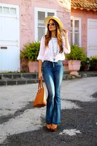 Mango jeans - pull&bear heels - Zara blouse - Coqueta Complementos necklace