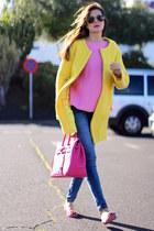 Sheinside coat - suiteblanco jeans - Zara sweater
