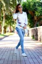 Sheinside sweater - Primark jeans - PERSUNMALL bag