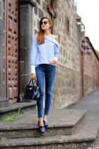 Zara jeans - Bimba & Lola bag - Chanel sunglasses - Stradivarius flats